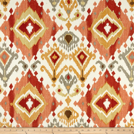 Swaville/Mill Creek Indoor /Outdoor Lavezzi Screen Paprika Fabric By The Yard