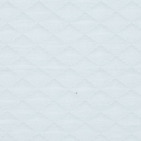 Sweden Quilt Knit Solid Pure White Fabric