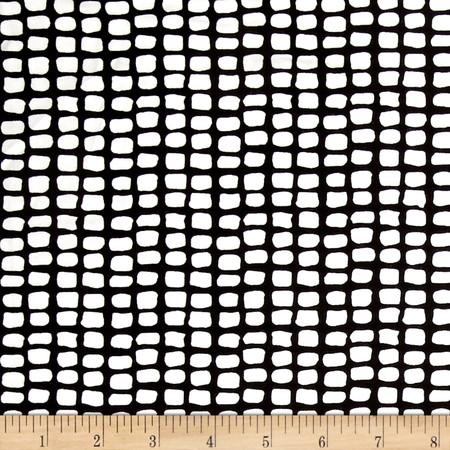 Telio Dakota Jersey Knit Print Black/White Fabric By The Yard