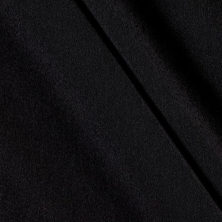 Telio Misora Crepe de Chine Black Fabric By The Yard
