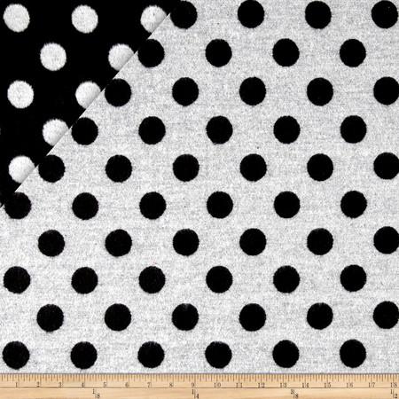 Telio Wool Polka Dot Black/White Fabric By The Yard