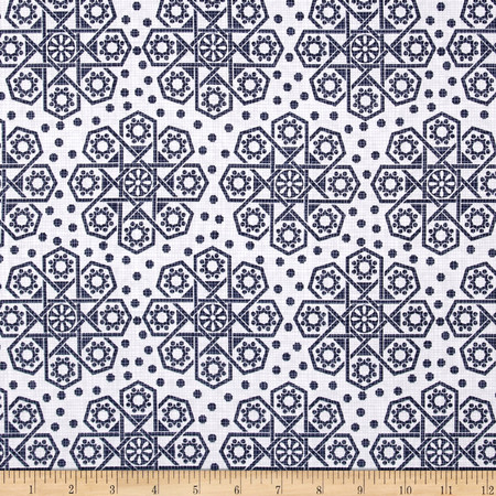 The Alchemy Collection Medallions White Fabric By The Yard