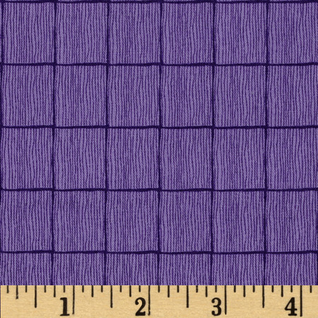 The Color Collection Box Plaid Purple Fabric