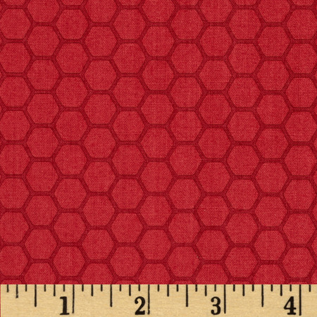 The Color Collection Honeycomb Red Fabric