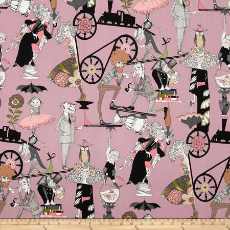 The Ghastlies A Ghastlie End Mauve Fabric