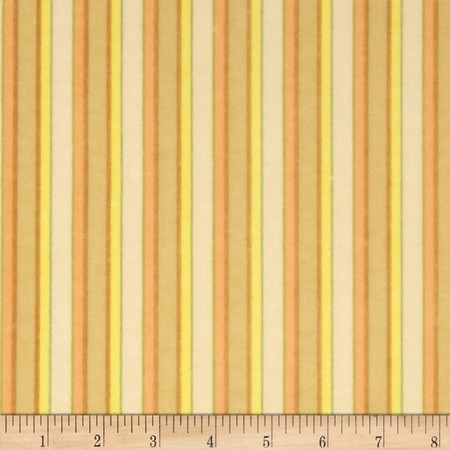 The Land Before Time Flannel Stripe Beige Fabric By The Yard