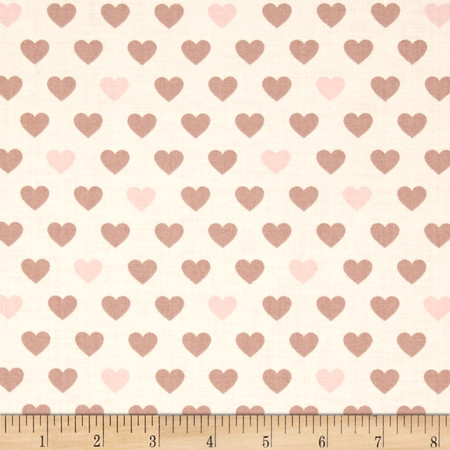 The Love Collection I Heart U Ivory Fabric By The Yard