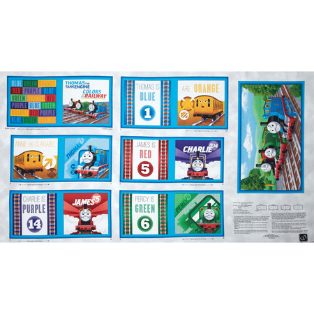 Thomas & Friends The Color Express Color of the Rail Book Panel Fabric