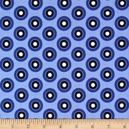 Three Quarter Time 45's Blue Fabric