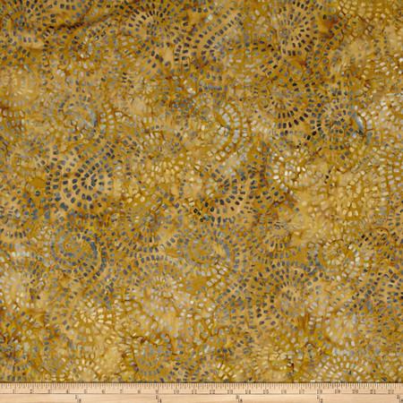 Timeless Treasure Batik Tonga Gypsy Mosaic Swirl Caramel Fabric By The Yard