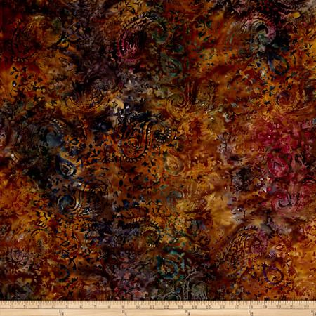Timeless Treasures 106'' Batik Ethnic Paisley Amazon Fabric By The Yard