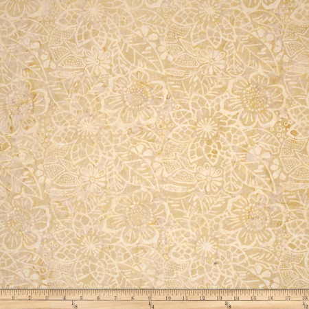 Timeless Treasures 106'' Batik Quilt Back Fall Bouquet Cream Fabric By The Yard