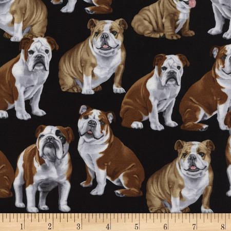 Timeless Treasures English Bulldogs Bulldog Fabric By The Yard