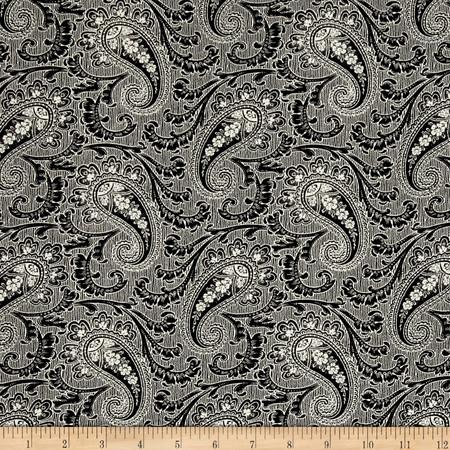 Timeless Treasures Fashion Sense Paisley Tuxedo Fabric By The Yard