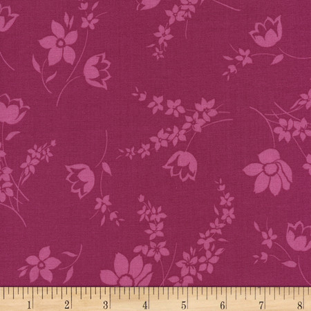 Timeless Treasures Felicity Tonal Floral Fabric By The Yard
