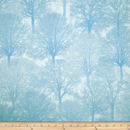 Timeless Treasures Holiday Glitter Trees Allover Snow Fabric By The Yard