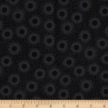 Timeless Treasures Hue Dotty Dots Black Fabric