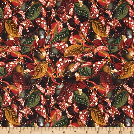 Timeless Treasures Judy Niemeyer Seasonal Portraits Rain Leaf Fabric
