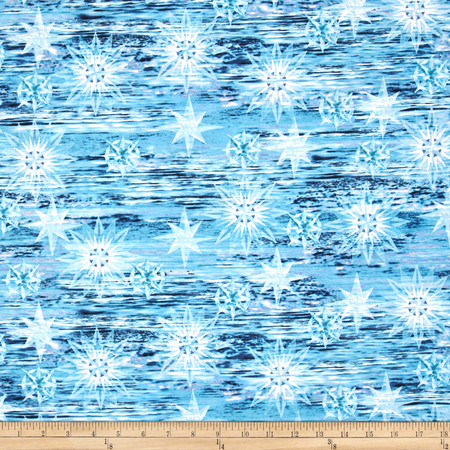 Timeless Treasures Judy Niemeyer Seasonal Portraits Water Blue Fabric