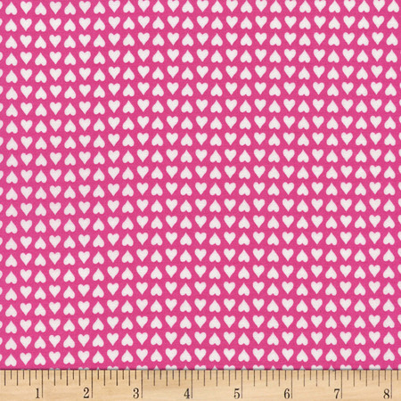 Timeless Treasures Julia Hearts Pink Fabric By The Yard