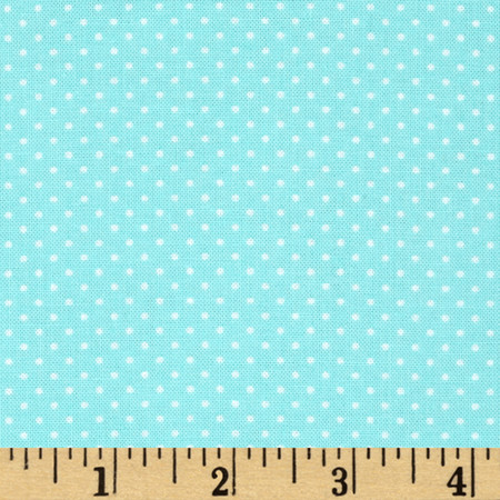 Timeless Treasures Mini Polka Dots Mint Fabric