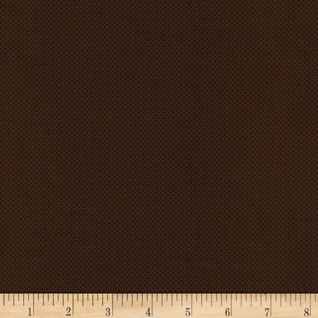 Timeless Treasures Pin Dots Brown Fabric