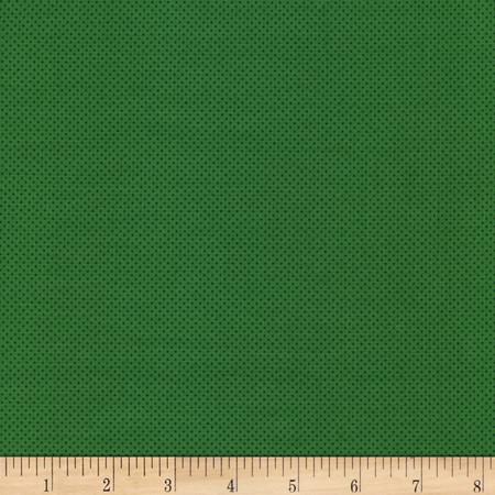 Timeless Treasures Pin Dots Green Fabric