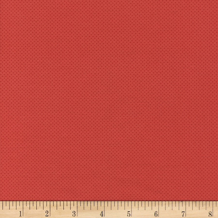 Timeless Treasures Pin Dots Tomato Fabric
