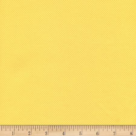 Timeless Treasures Pin Dots Yellow Fabric