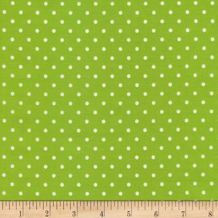 Timeless Treasures Polka Dots Lime Fabric