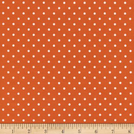 Timeless Treasures Polka Dots Orange Fabric