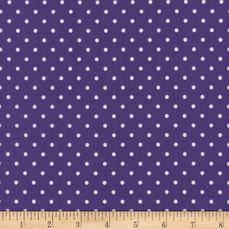 Timeless Treasures Polka Dots Purple Fabric