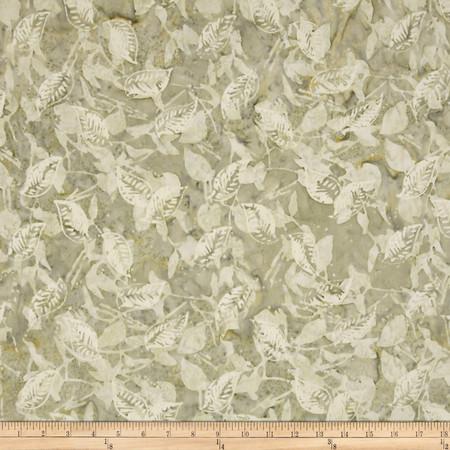 Timeless Treasures Tonga Batik Citrus Mint Leaves Celery Fabric