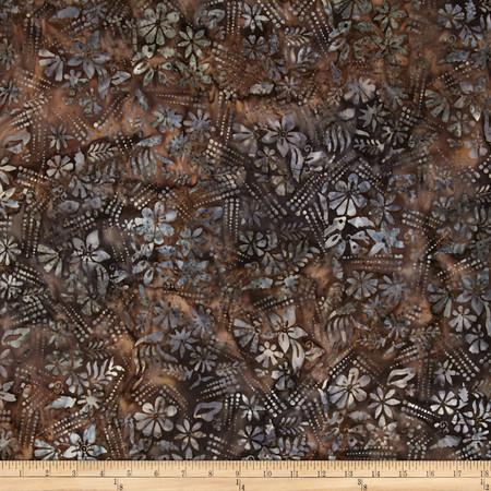Timeless Treasures Tonga Batik Flower Tracks Blush Fabric