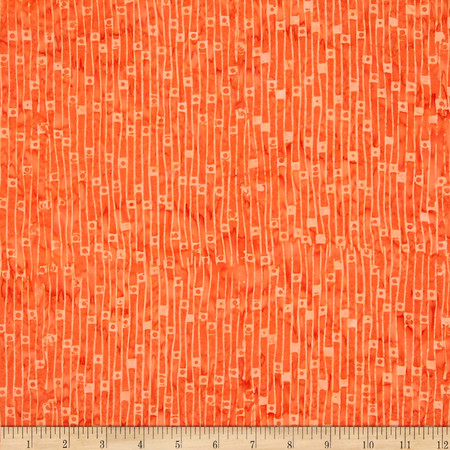 Timeless Treasures Tonga Batik Sunburst Floor Board Apricot Fabric