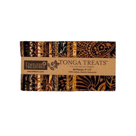 Timeless Treasures Tonga Batik  5'' Square Packs Chai