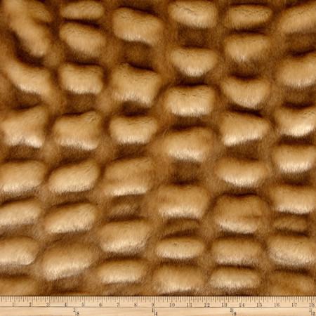 Tissavel Shar-Pei Mink Fur Beige Fabric By The Yard