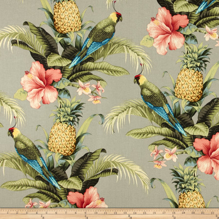 Tommy Bahama Indoor/Outdoor Beach Bounty Tangelo Fabric By The Yard