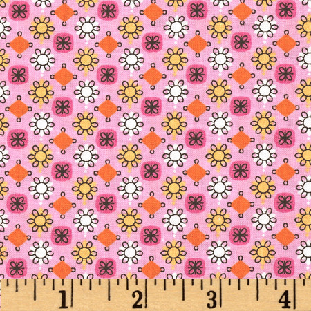 Tossed Tiny Floral Pink/Multi Fabric