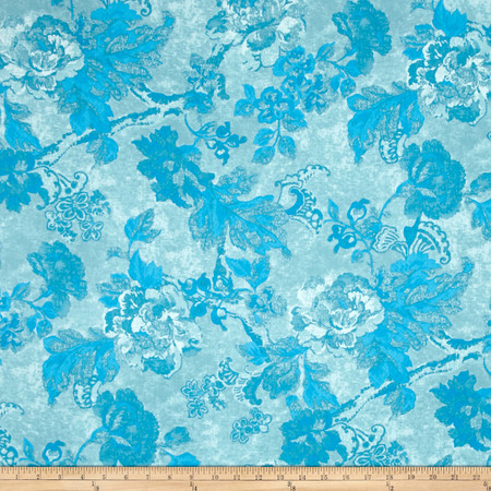 Tracy Porter Ardienne Tonal Floral Blue Fabric By The Yard