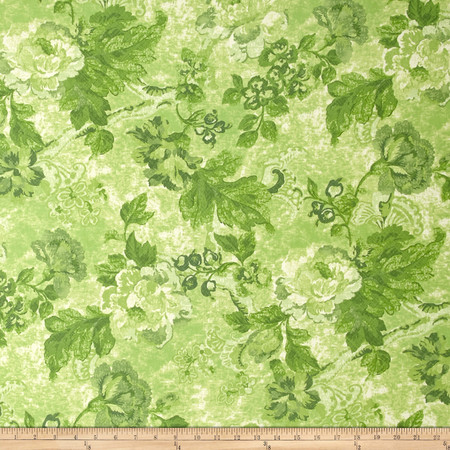 Tracy Porter Ardienne Tonal Floral Green Fabric