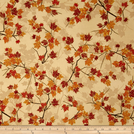 Treeline Drive Metallic Tree Branch Augusta/Gold Fabric