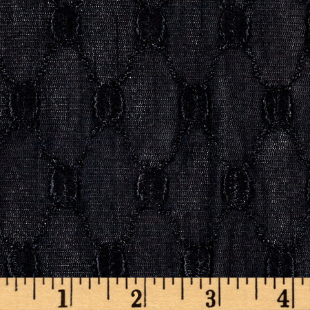 Trellis Nylon Spandex Stretch Lace Black Fabric By The Yard