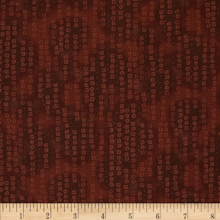 Tribal Instincts Ditzies Abstract Dark Brown Fabric