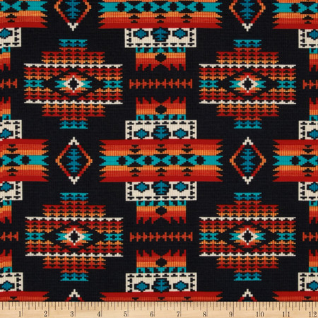 Tucson Beaded Blanket Black Fabric