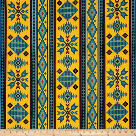 Tucson Beaded Stripe Gold Fabric