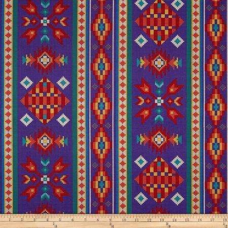 Tucson Beaded Stripe Purple Fabric By The Yard