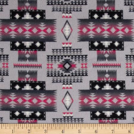 Tucson Flannel Blanket Grey Fabric