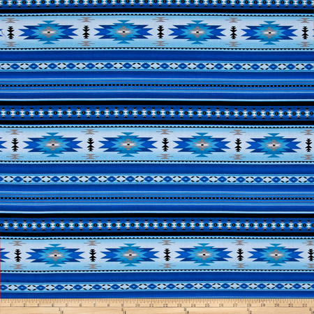 Tucson Stone Blue Fabric By The Yard