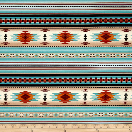 Tucson Stone Light Turquoise Fabric By The Yard